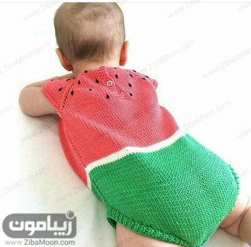 لباس هندوانه نوزاد