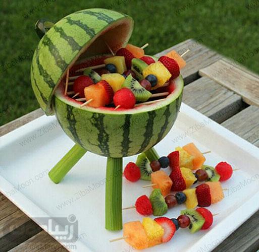تزیین میوه درون هندوانه