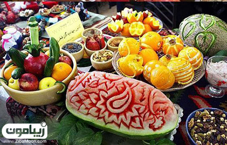 تزیین میوه های شب چله