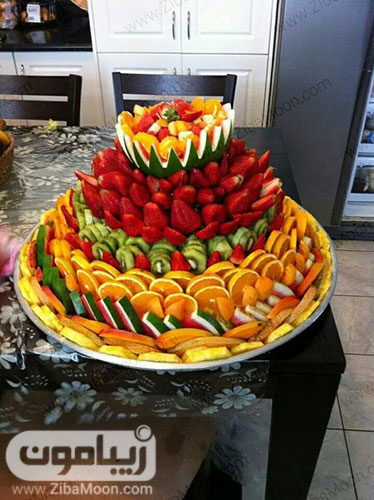 دیزاین سینی میوه های یلدا