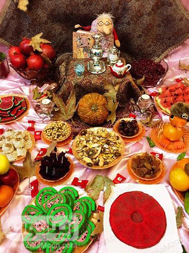 کیک و شیرینی انار و هندوانه
