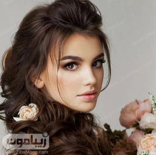 آرایش ساده و دخترانه برای عروس