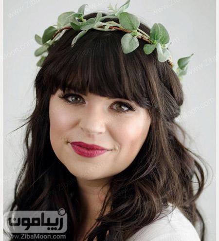 عروس اروپایی جذاب با مدل مو چتری