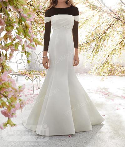 لباس عروس ساده و جدید با طراحی شیک و زیبا