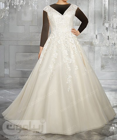 لباس عروس سایز بزرگ ساده و شیک