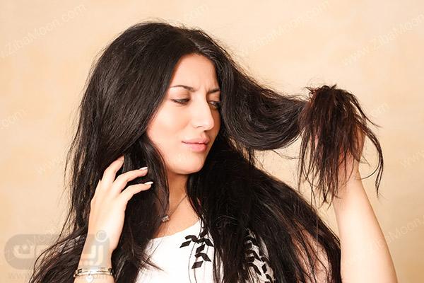 موهای بلند و چرب