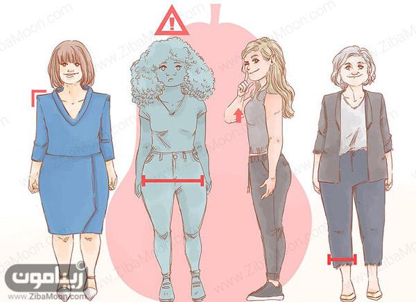 نکات انتخاب لباس برای اندام گلابی شکل