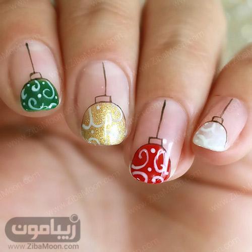 طراحی ناخن جالب مخصوص کریسمس
