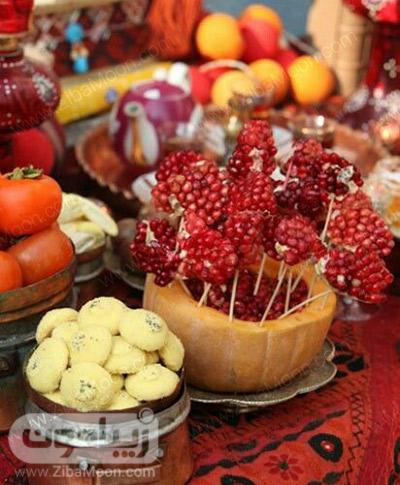 ایده تزیین میوه برای شب یلدا
