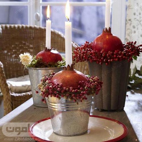 شمع آرایی شیک و خاص برای شب یلدا