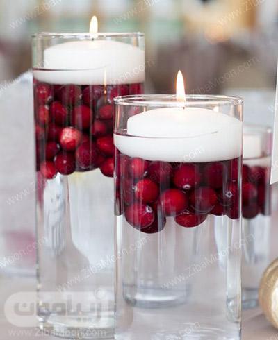 شمع آرایی شیک و زیبا برای شب یلدا