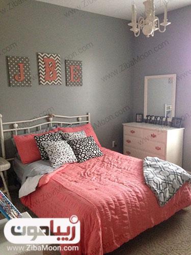 دکور اتاق با رنگ مرجانی