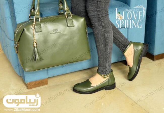 کیف و کفش زیتونی