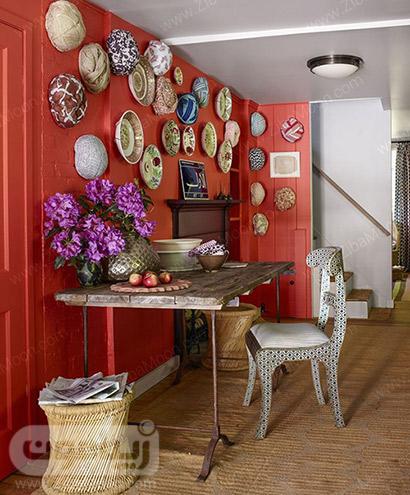 دکوراسیون خانه با رنگ مرجانی