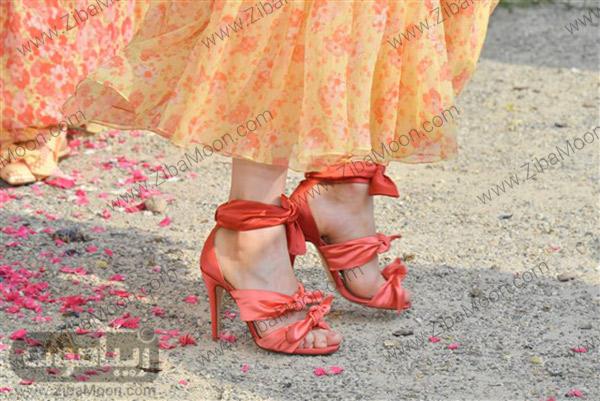 کفش زنانه با رنگ مرجانی