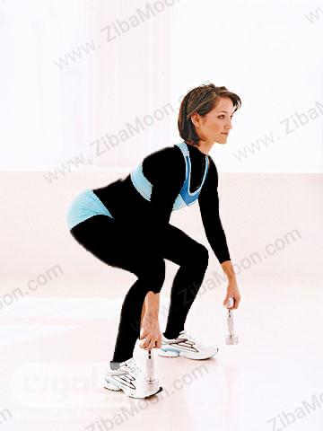 کاهش وزن با حرکت اسکوات با عرض شانه