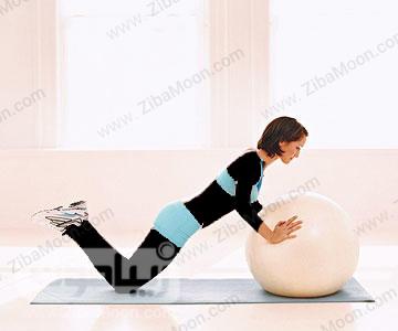 کاهش وزن با حرکت شنا با توپ