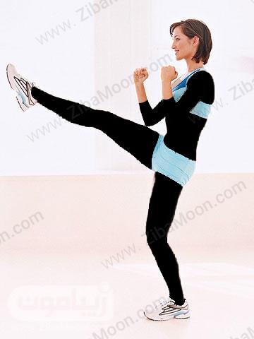 کاهش وزن با حرکت ورزشی کیک رو به رو