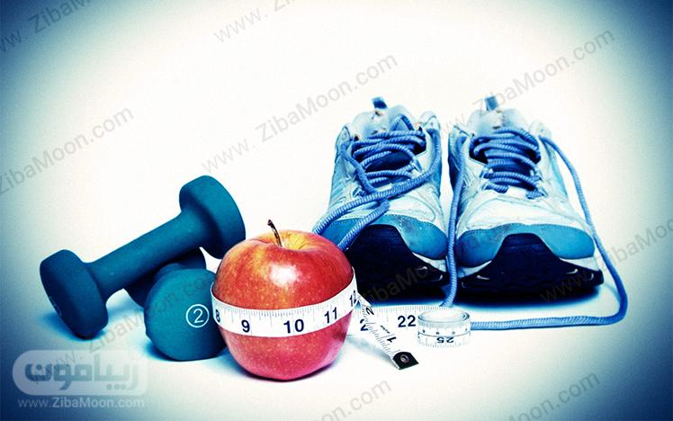 کفش ورزشی و دمبل