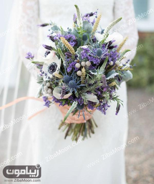 دسته گل عروس با گلهای متنوع و زیبا