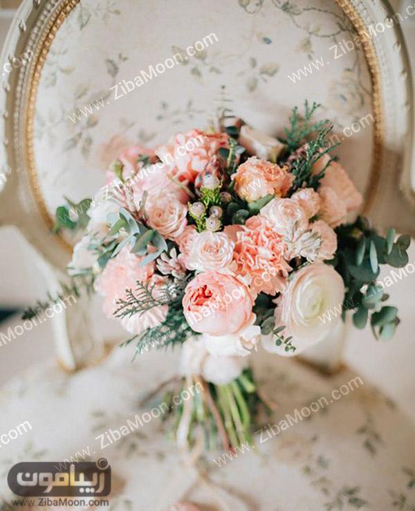 دسته گل عروس بهاری و شیک