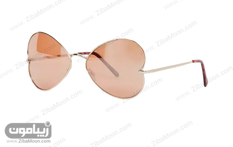 عینک آفتابی با فریم قلبی شکل