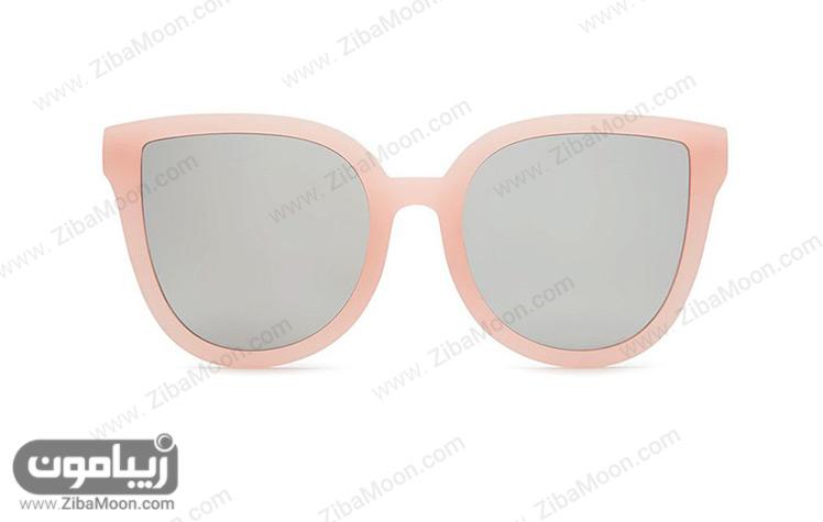 عینک آفتابی زنانه با فریم بزرگ و صورتی
