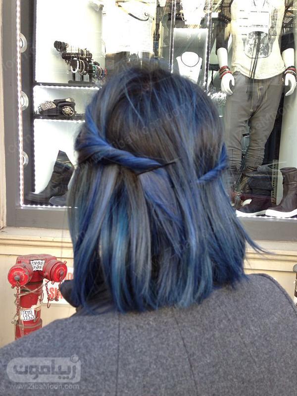 رنگ موی آبی لی چرک