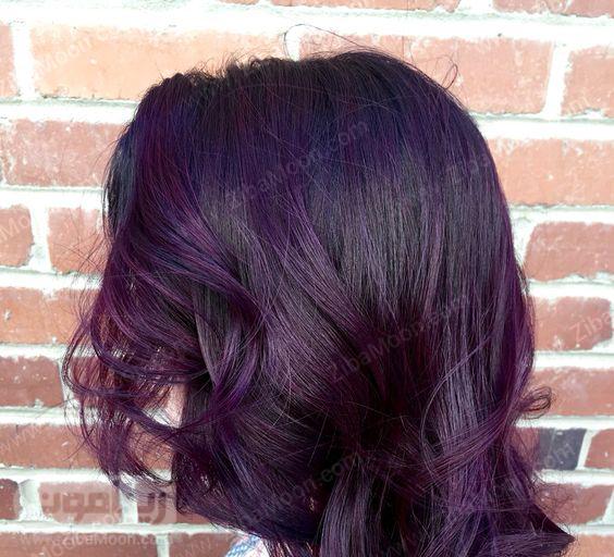 رنگ موی بنفش تیره