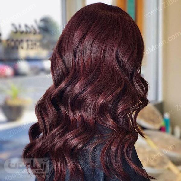 رنگ موی شرابی بادمجانی