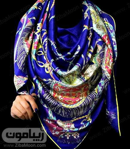 روسری آبی دخترانه برای عید 97