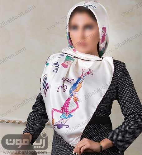 روسری دخترانه ساتن برای عید 97