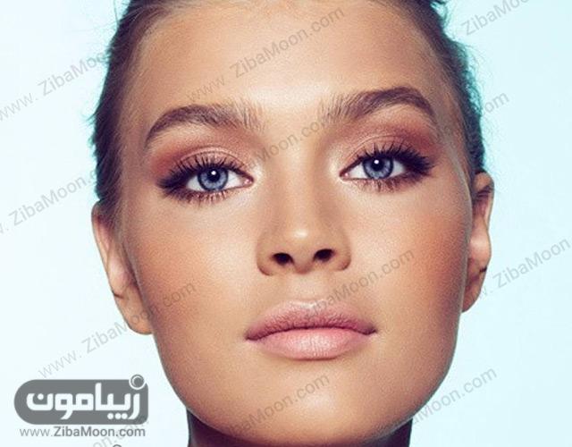 آرایش ملایم برای پوست سبزه