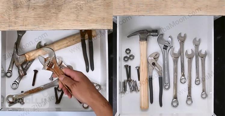 ابزارآلات فلزی زنگ زده و ابزار آلات فلزی براق