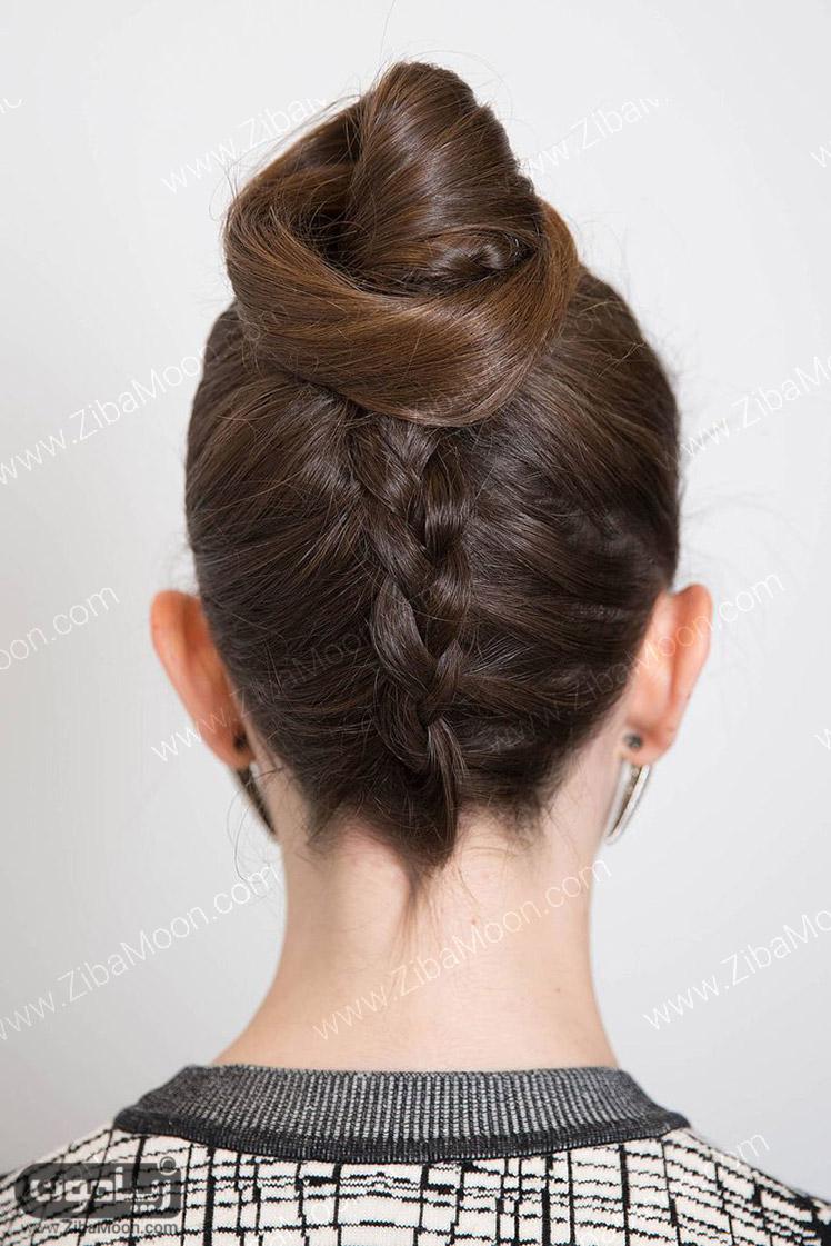 بافت و شینیون مو دخترانه