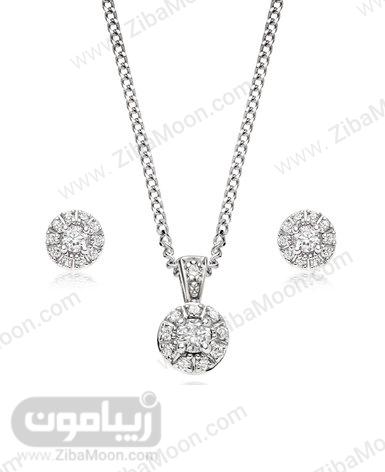 ست گردنبند و گوشواره الماس عروس