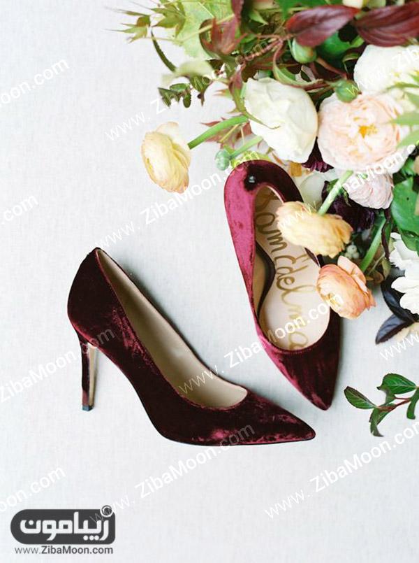 کفش عروس زرشکی
