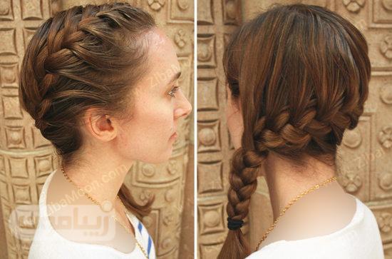مرحله سوم بافت مو فرانسوی یک طرفه