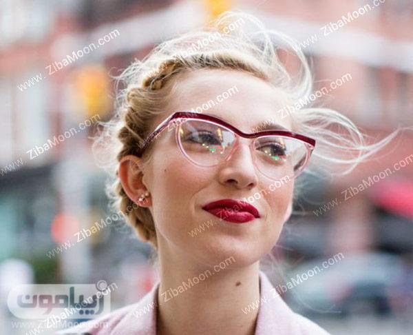عینک دخترانه با فریم قرمز