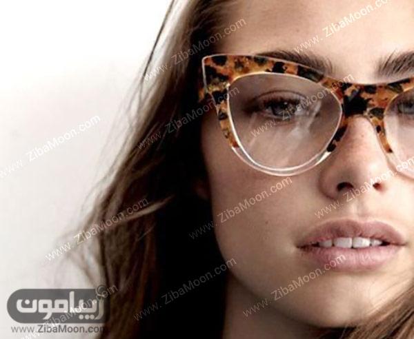 عینک دخترانه با فریم پلنگی