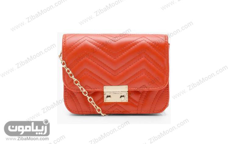 کیف دخترانه نارنجی رنگ