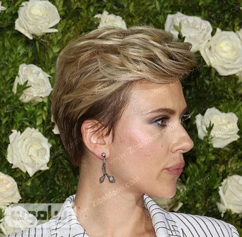 مدل مو کوتاه و لایه ای زنانه