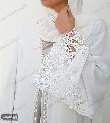 مانتو سفید عروس