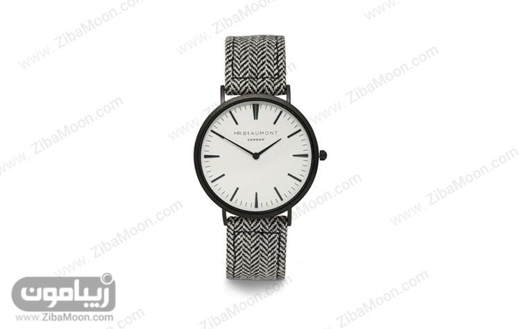 ساعت با بند پارچه ای