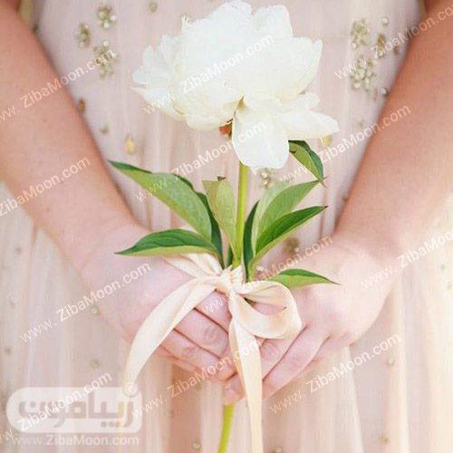 گل ص تومانی سفید برای عروس