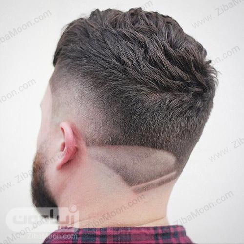 خط موی گردن دابل فید قهوه ای