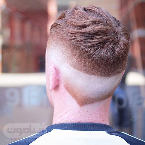 خط موی گردن دابل فید و هفتی شکل