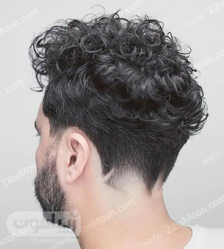 مدل موی مردانه فر با خط گردن