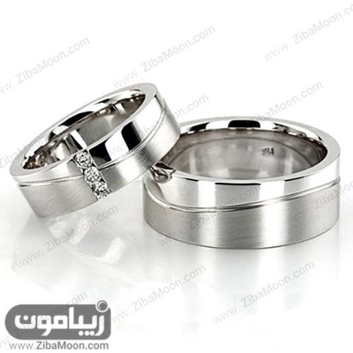 حلقه ازدواج ست طلا سفید شیک و خاص