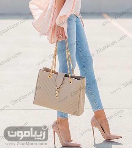 کیف و کفش با رنگ نود